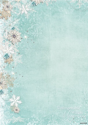"Hintergrundpapier ""Sweet Winter Season"" DIN A4"