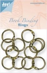 "JOY Crafts Book Binding ""Rings"" 25 mm 12 Stück"