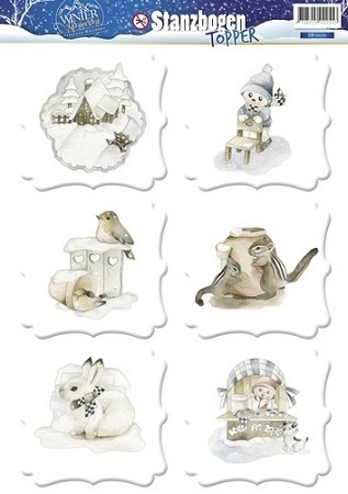 *Precious Marieke 3 D Topper Winter Wonderland