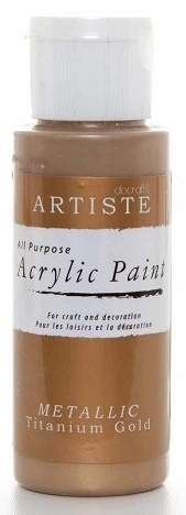 Acrylfarbe - METALLIC 59 ml titanium gold
