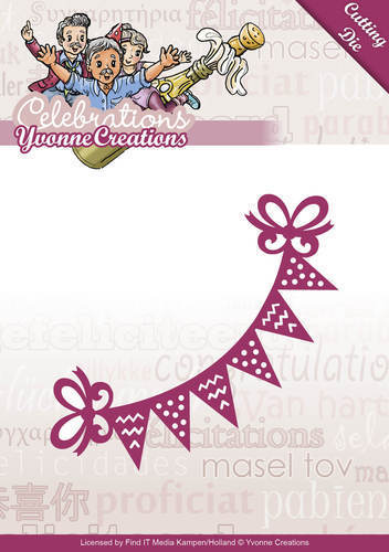 "Yvonne Creations Celebrations Stanzschablone ""Bunting"""