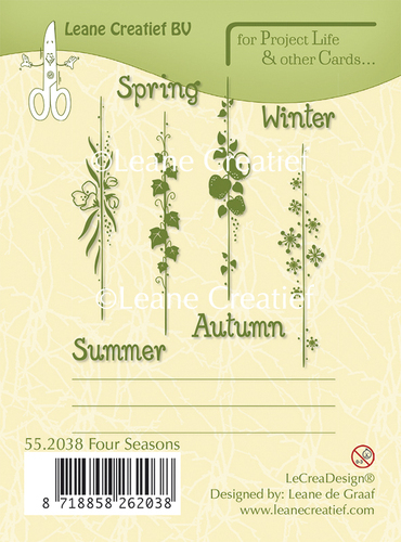 "Leane Creativ ""Clear Stamps - Spring, Summer, Autumn, Winter"""