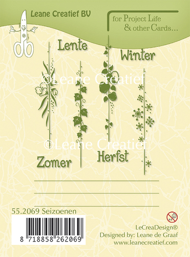 "Leane Creativ ""Clear Stamps - Lente, Zomer, Herfst, Winter"""