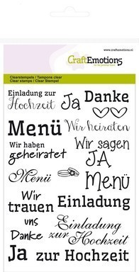 Clear Stamps Schrift