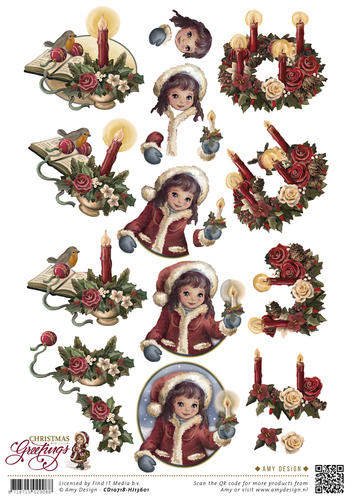 Amy Christmas Greetings - 3D Schneidebogen