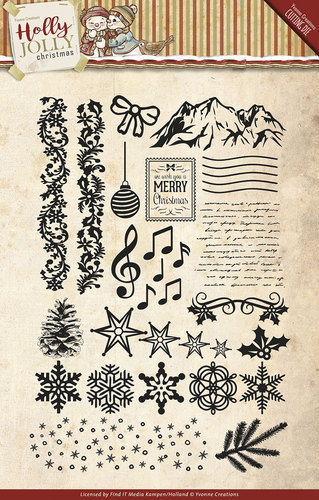 Clear Stamps Holly Jolly