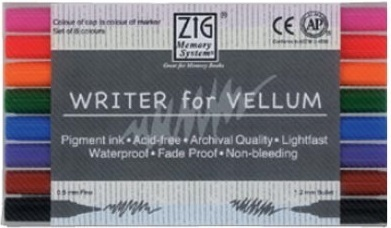 ZIG's WRITER FOR VELLUM 8er SET