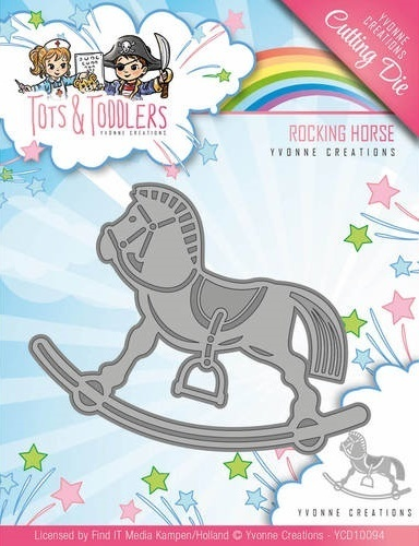 Stanzschablone - Tots and Toddlers - Rocking Horse