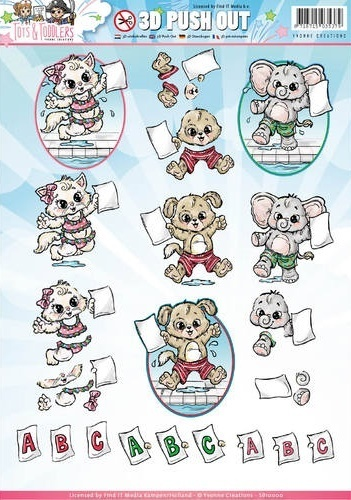 "3 D Stanzbogen A4 ""Yvonne Creations - Tots and Toddlers"""