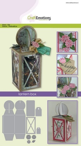 CraftEmotions Stanzschablonen LATERN BOX