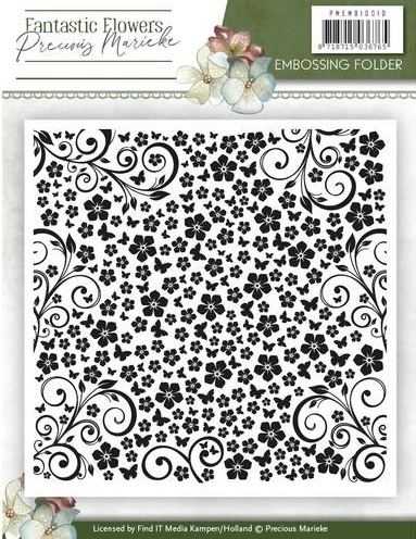VB - Embossing Folder - Precious Marieke - Fantastic Flowers