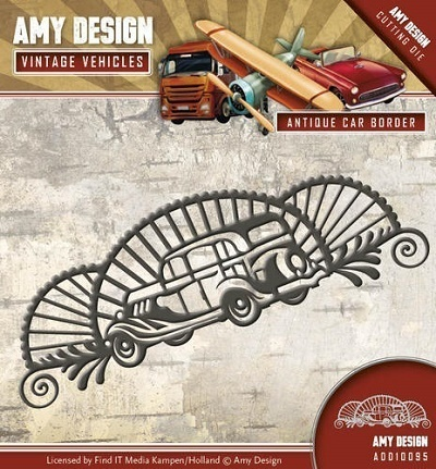 Stanzschablone - Amy Design - Vintage Vehicles - Oldtimer Bordüre