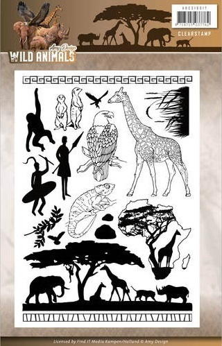Amy Design Clear Stamps WILD ANIMALS