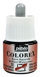 COLOREX Aquarelltinte von Pébéo Raw Sienna