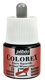 COLOREX Aquarelltinte von Pébéo Sanguine