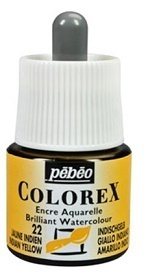 COLOREX Aquarelltinte von Pébéo Indian Yellow