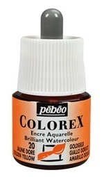 COLOREX Aquarelltinte von Pébéo Golden Yellow