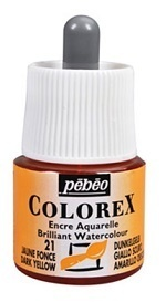 COLOREX Aquarelltinte von Pébéo Dark Yellow