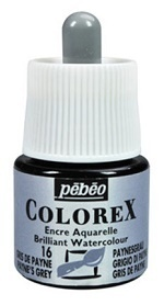 COLOREX Aquarelltinte von Pébéo Paynes Grey