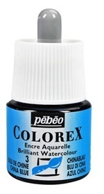 COLOREX Aquarelltinte von Pébéo Chinese Blue