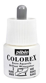 COLOREX Aquarelltinte von Pébéo White