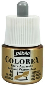 COLOREX Aquarelltinte von Pébéo Pale Gold