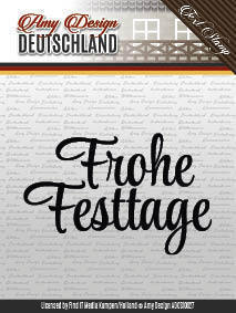 Amy Design Clear Stamps Schrift Frohe Festtage