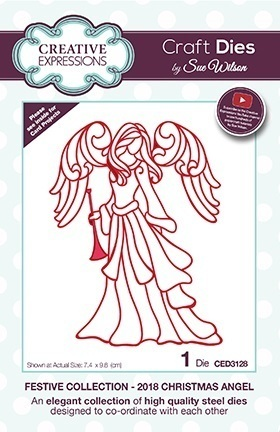 *1 Stanzschablone 2018 Christmas Angel