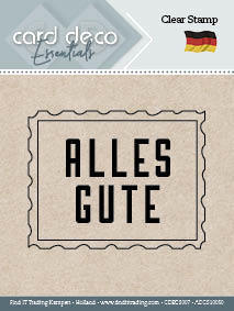 CARD DECO Clear Stamp Alles Gute