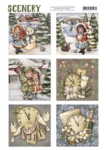Die Cut Topper - Scenery - Classic Christmas*