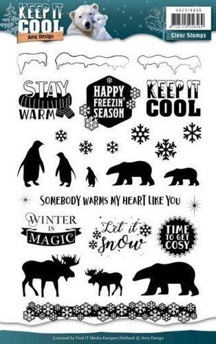 Amy Design Clear Stamps KEEP IT COOL