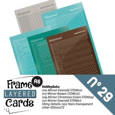 Stickerset A6 Layered frame cards 29 keine Lagerware