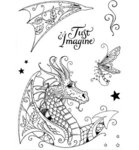 Clear Stamps Drache A5