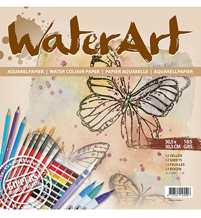 *WaterArt Aquarellpapier 12 x 30,5 x 30,5 cm