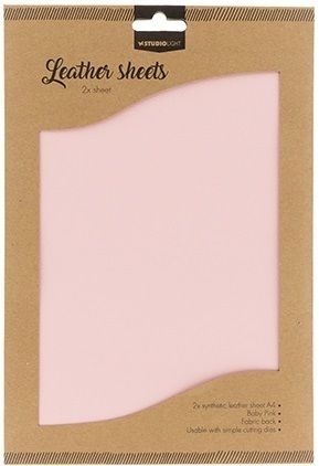 Leather sheets, synthetic 2 x A4 rosa