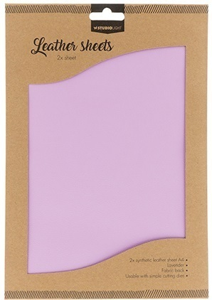 *Leather sheets, synthetic 2 x A4 lila