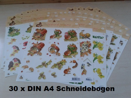 *30 tlg. SET Natural Seasons Schneidebogen