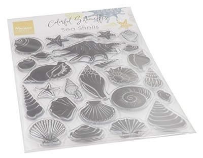 *Clear Stamps Silhouette Sea Shells